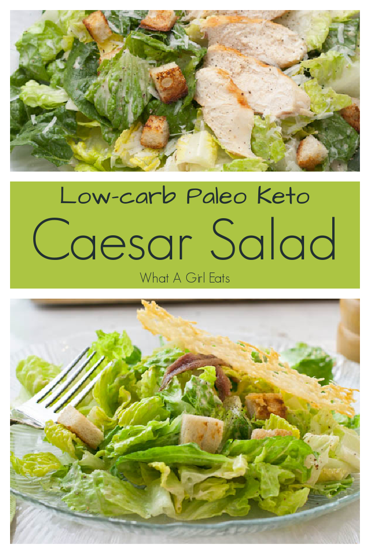 This Caesar salad dressing recipe uses mayonnaise instead of raw eggs. It's a delicious low carb, gluten free and keto friendly salad dressing.