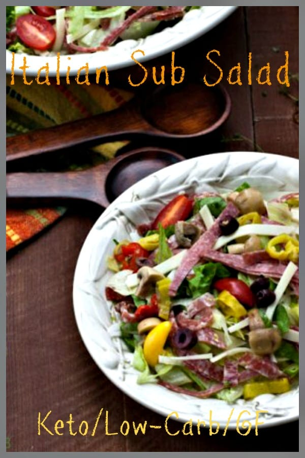 Low carb, keto antipasto salad