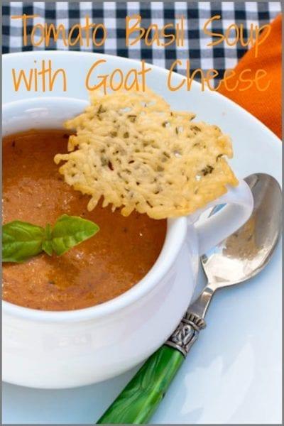 Tomato basil soup pin