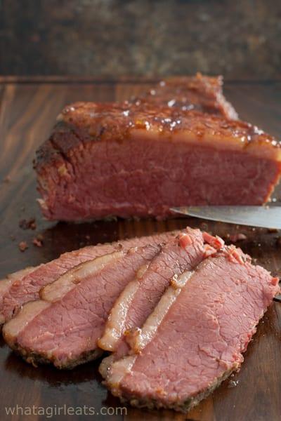 sliced crock pot corned beef