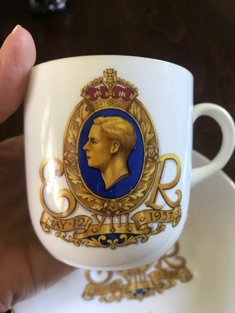 Edward Vlll of England tea cup