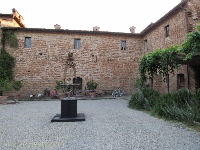 Courtyard of Antica Corte Pallavicino