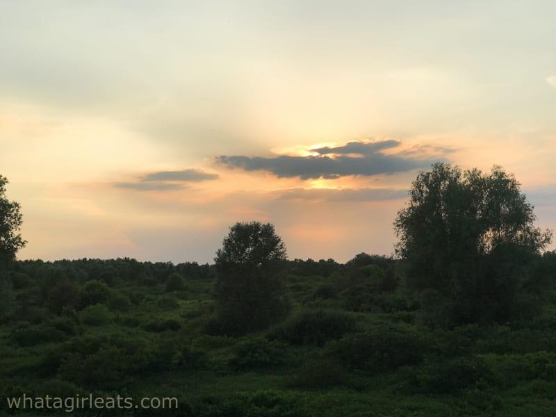 sunset at Antica Corte pallavicina