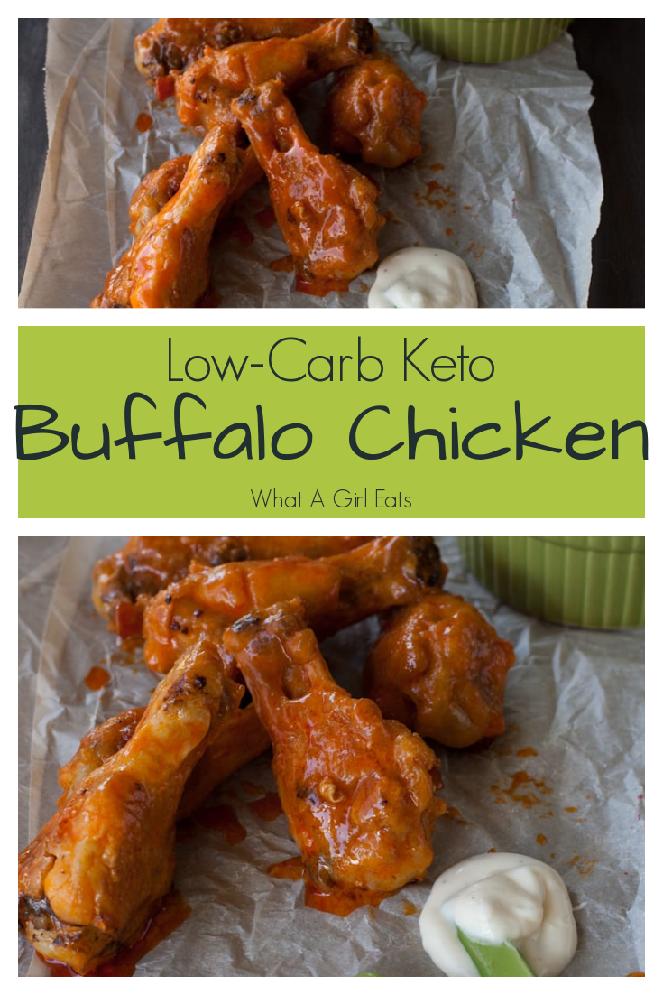 Low carb, gluten free, paleo, and keto friendly buffalo chicken wings.