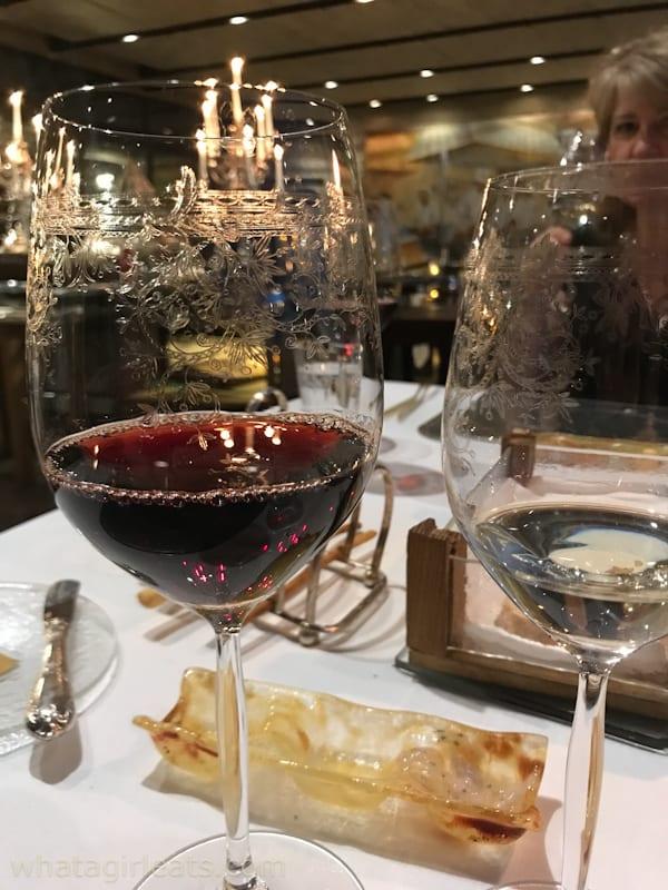 Red wine in a pretty glass