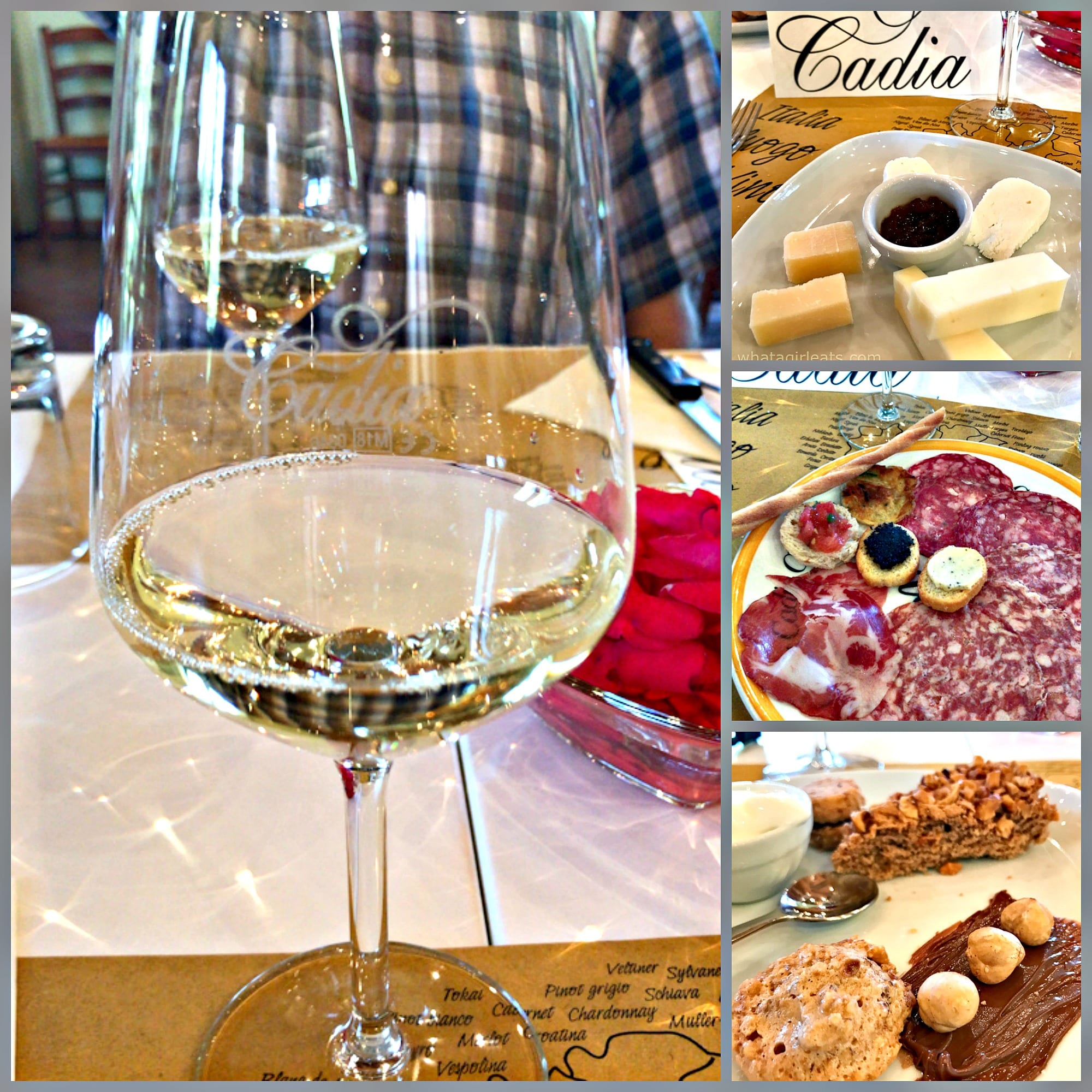 Cadia winery collage
