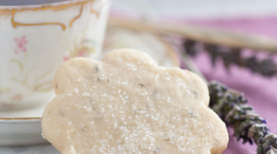 Lavender shortbread and cup