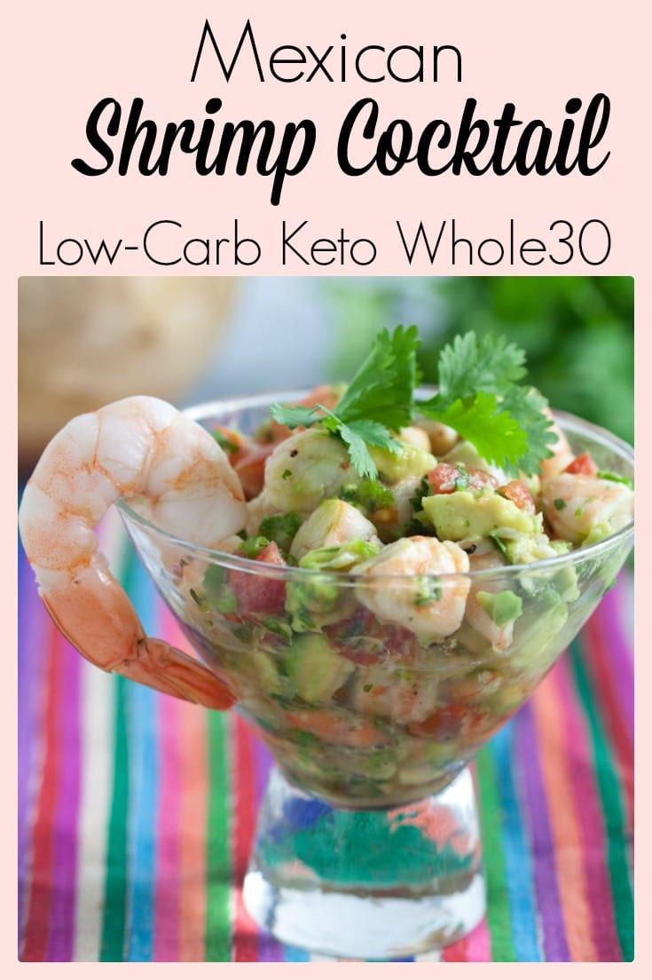 This Mexican Shrimp Cocktail (ceviche) is low carb, gluten free, keto friendly and Whole30 compliant.