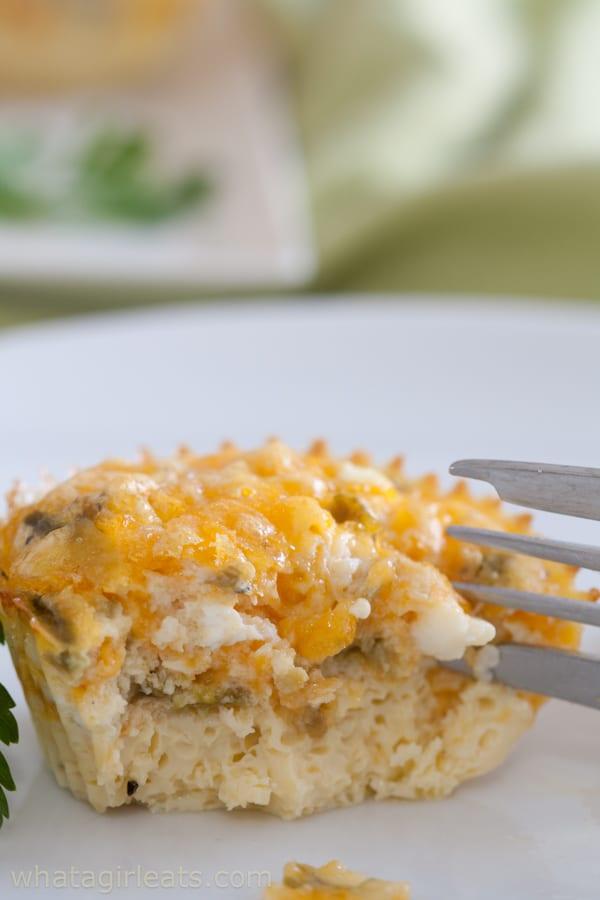 egg bite with fork
