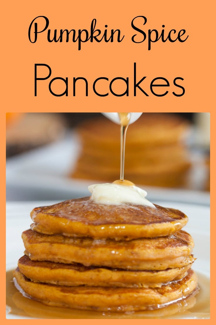Pumpkin pancakes is a buttermilk batter and warm pumpkin spices and pumpkin puree. So easy!