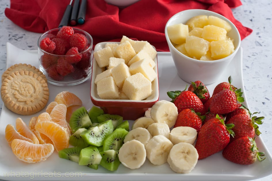 Fruit for dipping in fondue
