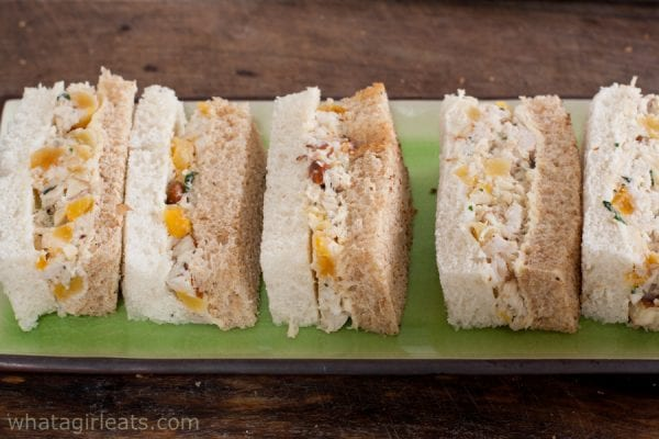 Chicken salad with apricots, almonds and tarragon