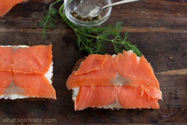 smoked salmon on rye