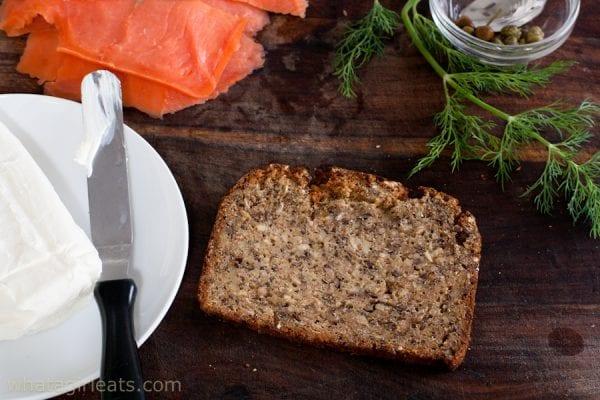 ingredients for smoked salmon tea sandwiches