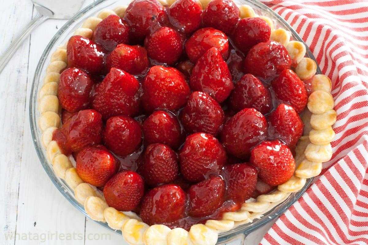 strawberry pie top shot