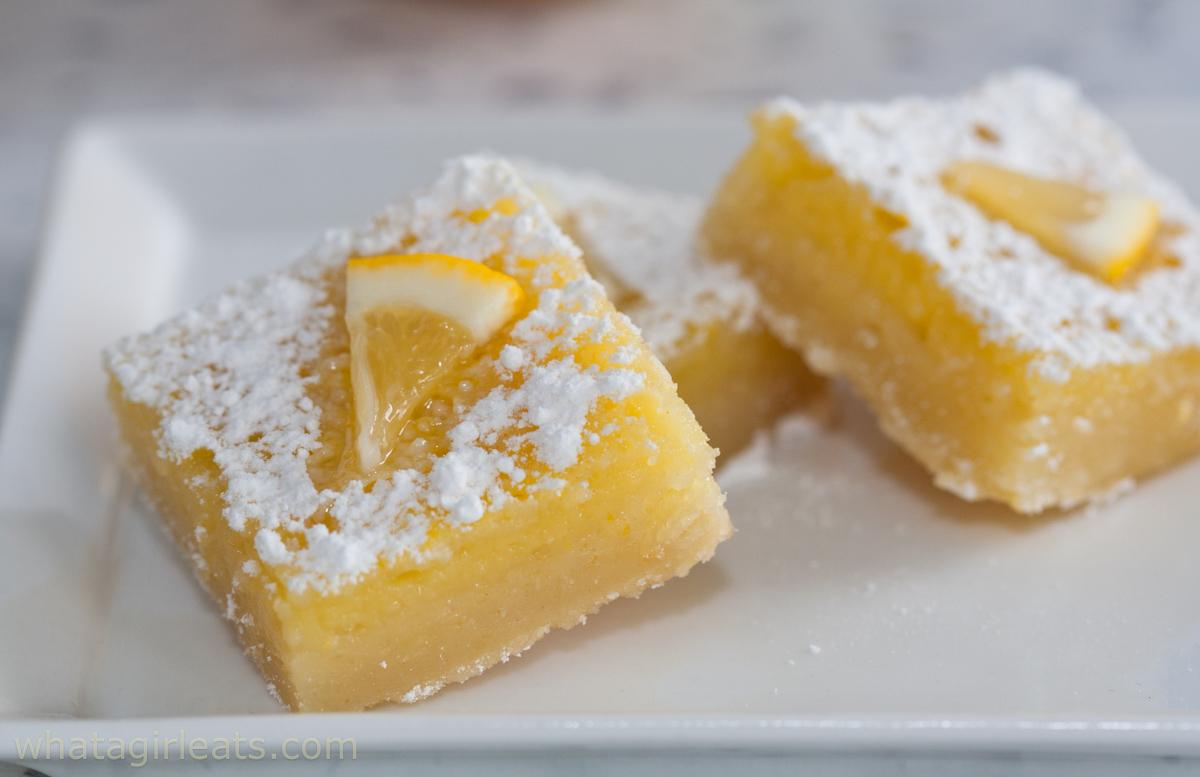 horizontal lemon bars