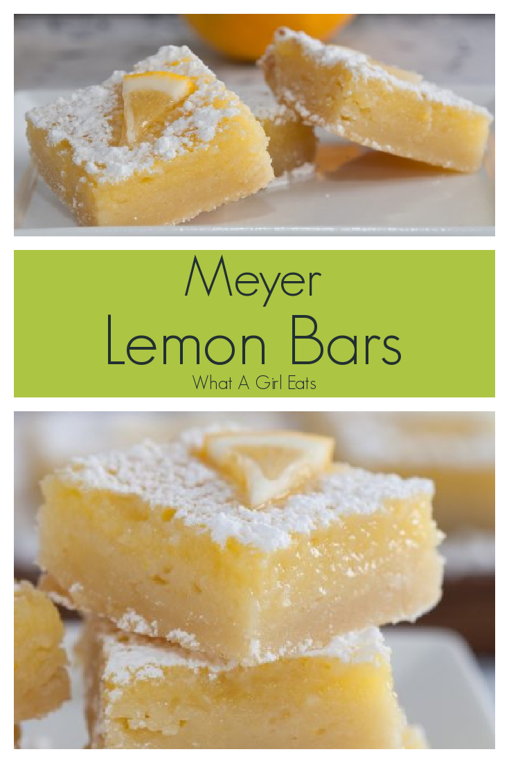 Deliciously tart and sweet, these Meyer lemon bars have a tender shortbread crust and a creamy filling.