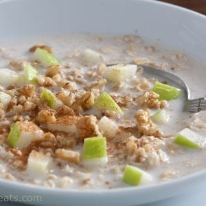 overnight oats closeup