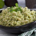 cilantro rice close up