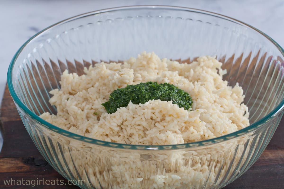 dressing in rice