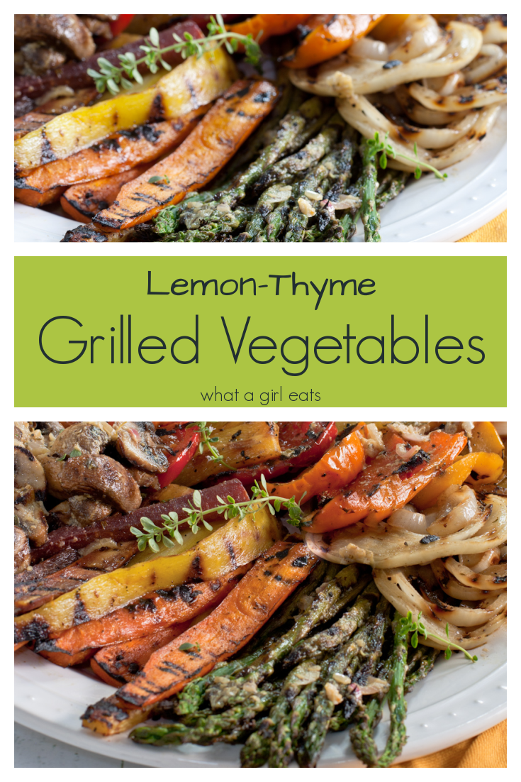 Lemon, butter and thyme make a delicious marinade and sauce for grilled vegetables.